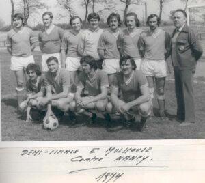 L'équipe 1974 de l'ASES