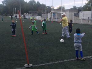 Abdelkader, entraîneur-adjoint des Pitchounes de l'ASES Football